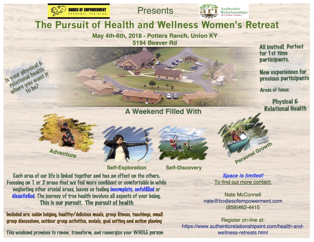 Pursuit of Health and Wellness retreat